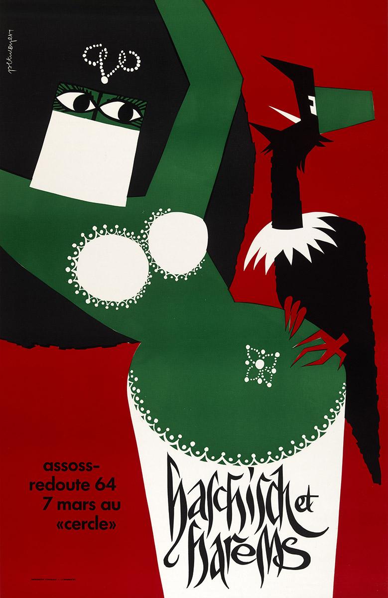 Affiche Poster Plakat Assoss 1964 graphiste Pit Weyer