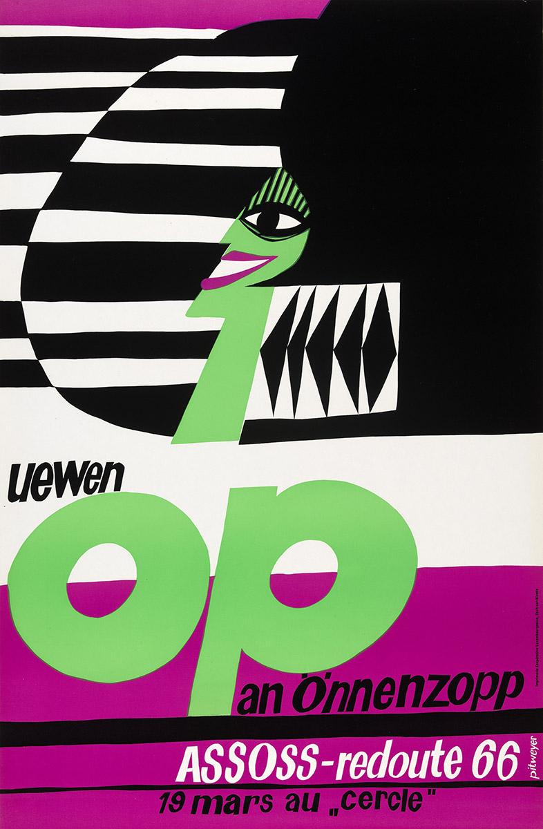 Affiche Plakat Poster Assoss-redoute 1966 Pit Weyer