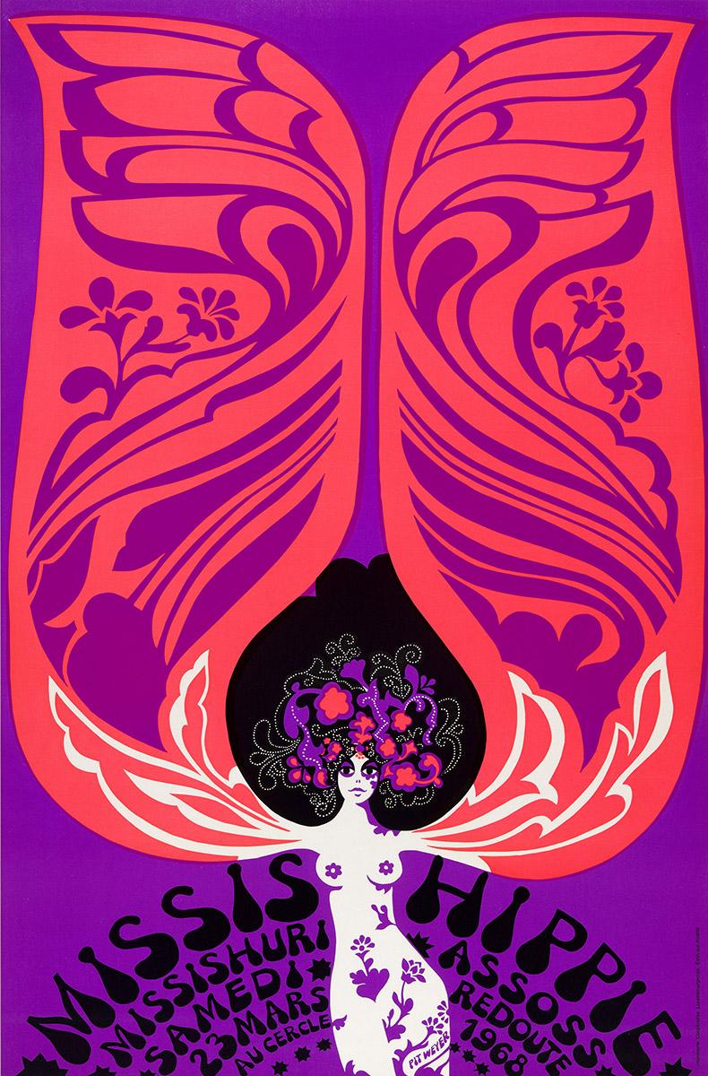 Affiche Assoss redoute 1968 Pit Weyer