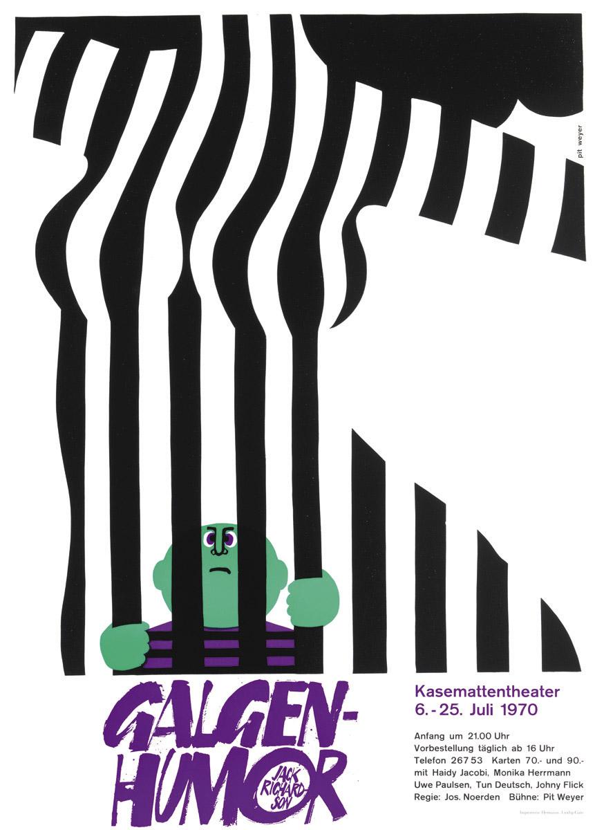 Affiche Kasemattentheater 1970 Galgenhumor von Jack Richardson - Pit Weyer