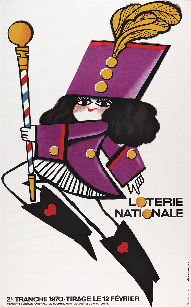 Affiche Loterie Nationale Luxembourg 1970 - Anne Weyer