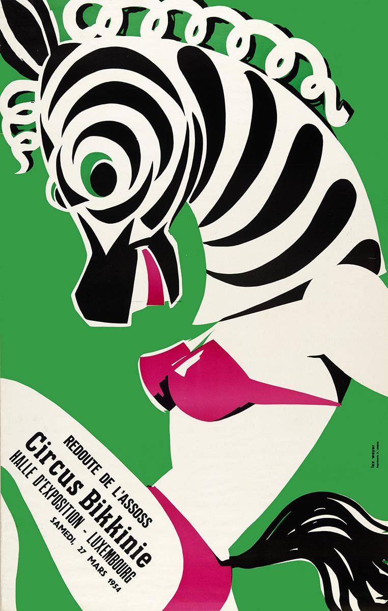 Affiche Assoss Bal 1954 graphiste Lex Weyer senior