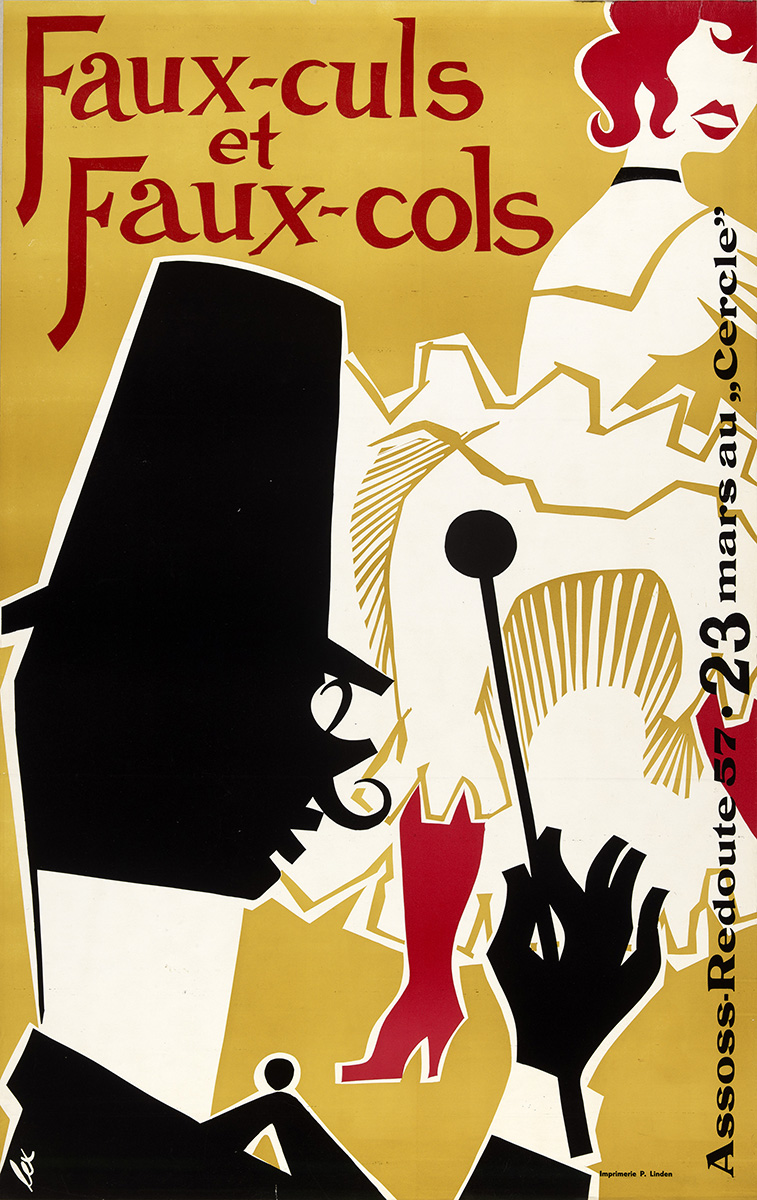 Affiche Assoss Bal 1957 graphiste Lex Weyer senior