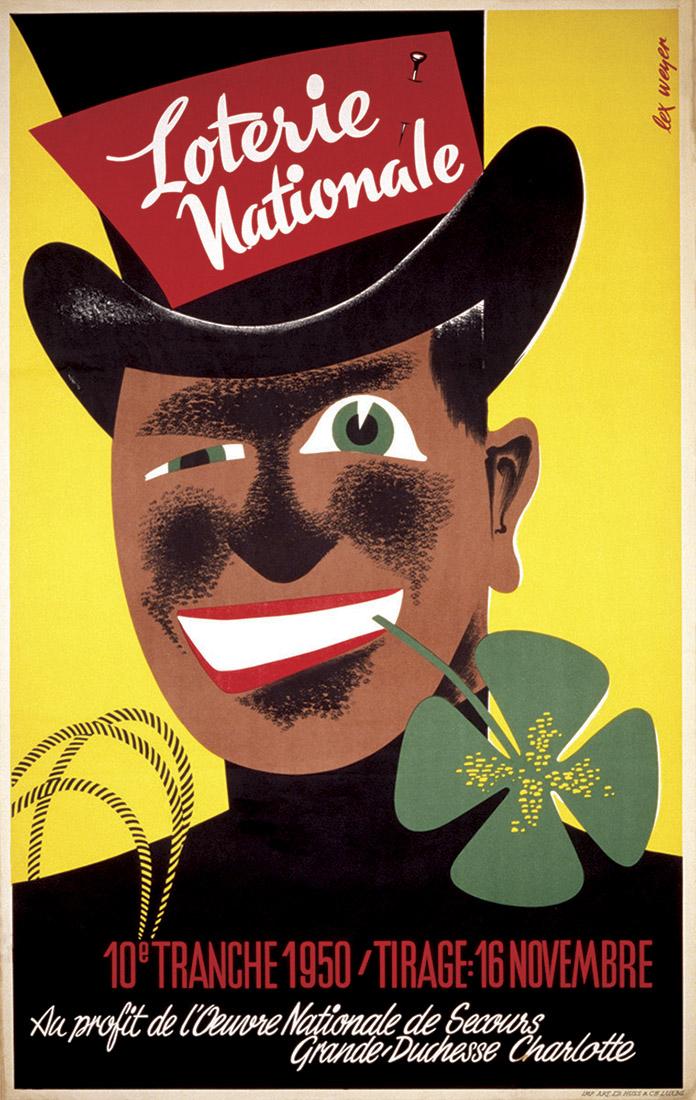 Affiche pour la Loterie Nationale de Luxembourg graphiste Lex Weyer - imprimerie Huss