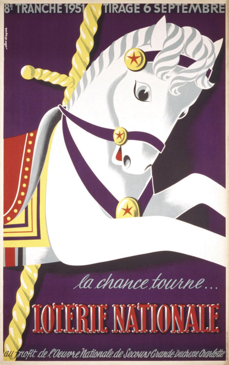 Affiche pour Loterie Nationale de Luxembourg graphiste: Lex Weyer - imprimerie Huss
