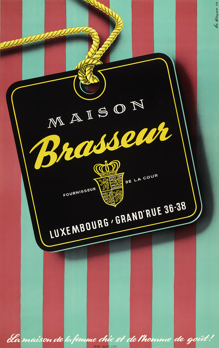 Affiche pour Maison Brasseur 1954 Lex Weyer senior