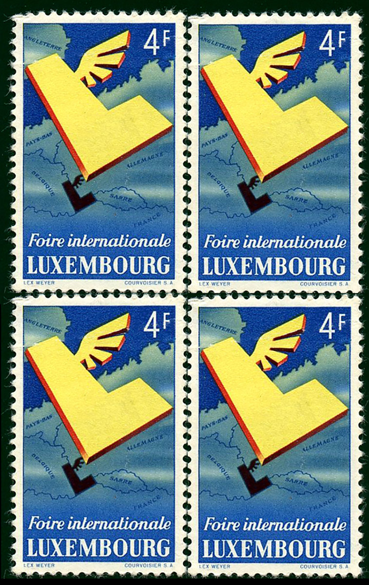Timbre poste - Postage stamp 1954 FIL Foire Internationale de Luxembourg Lex Weyer