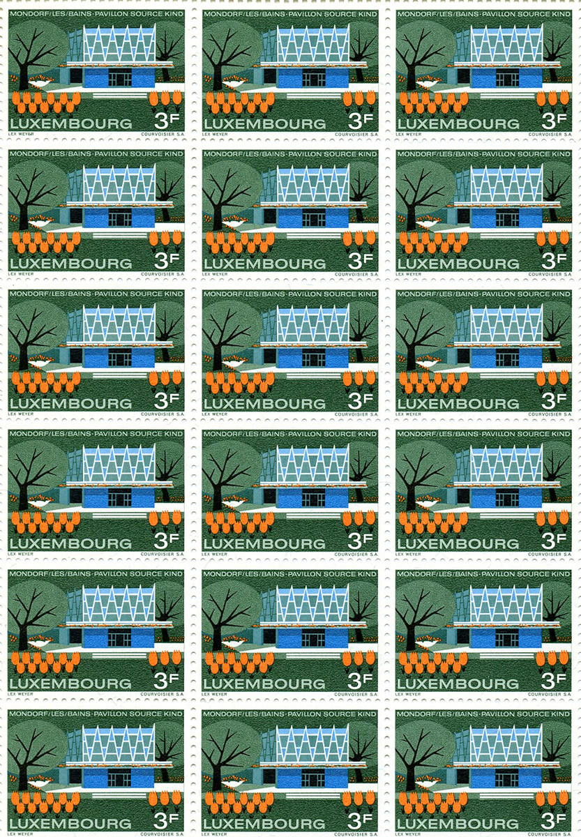 Timbre postal - postal stamp - Mondorf-les-bains 1968 - Lex Weyer senior