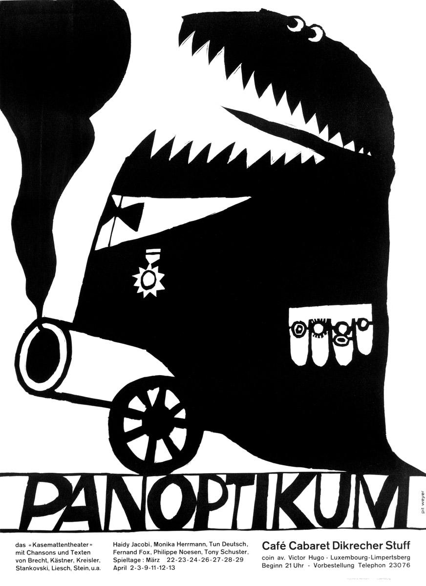 Affiche Plakat Kabarett PANOPTIKUM Kasemattentheater théâtre des casemates - Pit Weyer