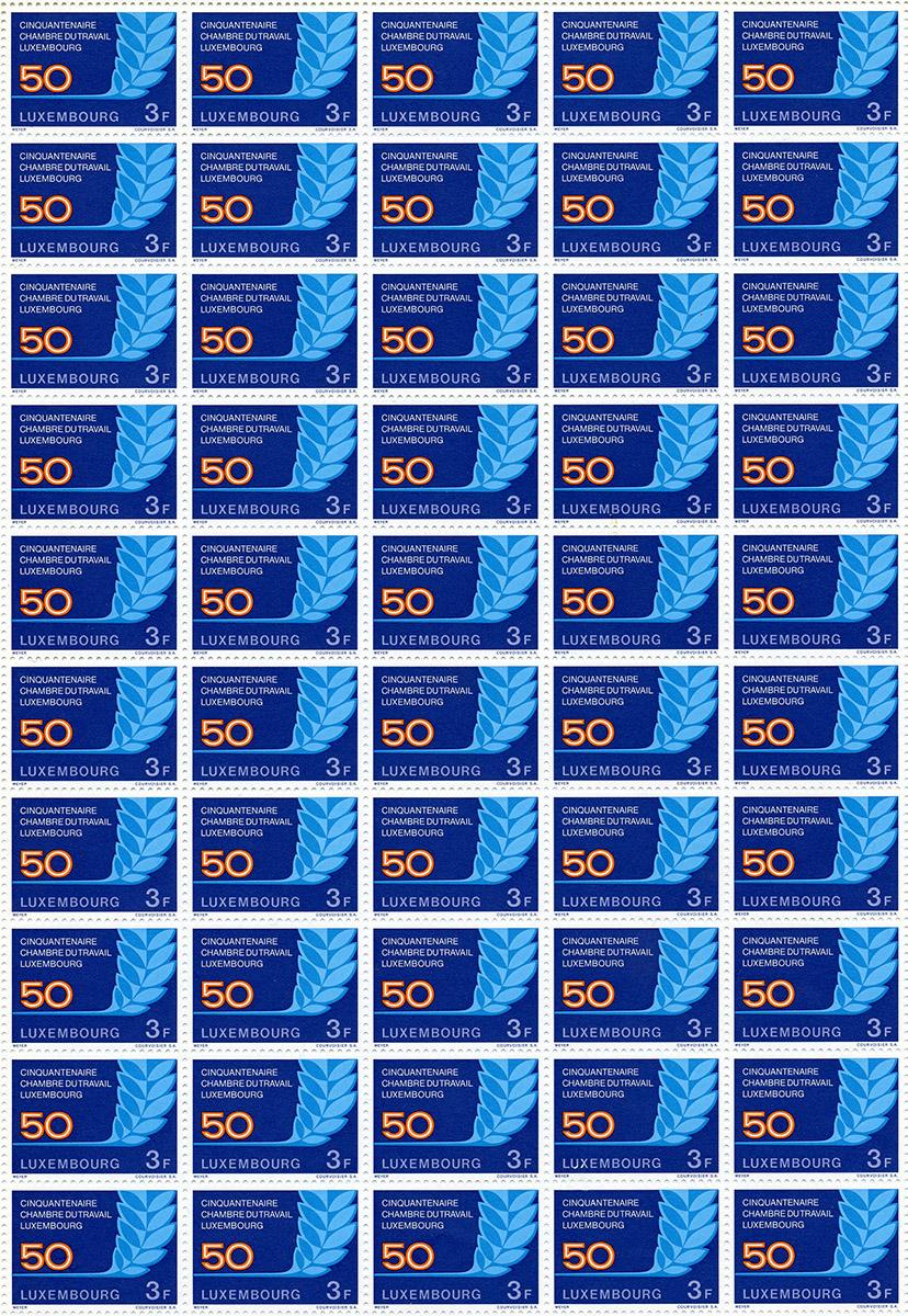 Briefmarken Postal stamps timbres 1973 Chambre du travail - Pit Weyer
