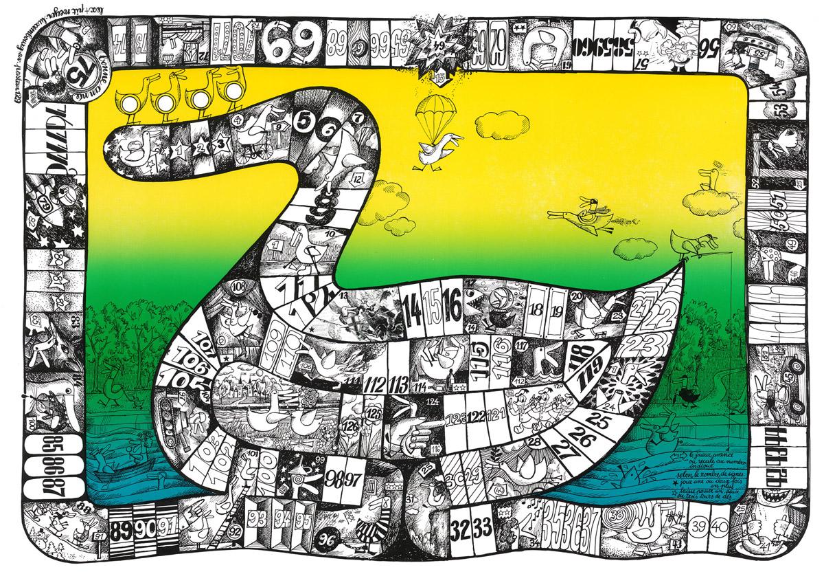 Affiche Bonne Année Neujahrsplakat 1975 Lex & Pit Weyer Illustration Pit Weyer