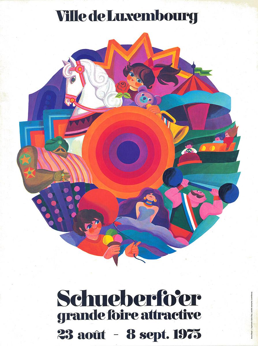 Affiche Plakat 1975_Schueberfouer Anne Weyer