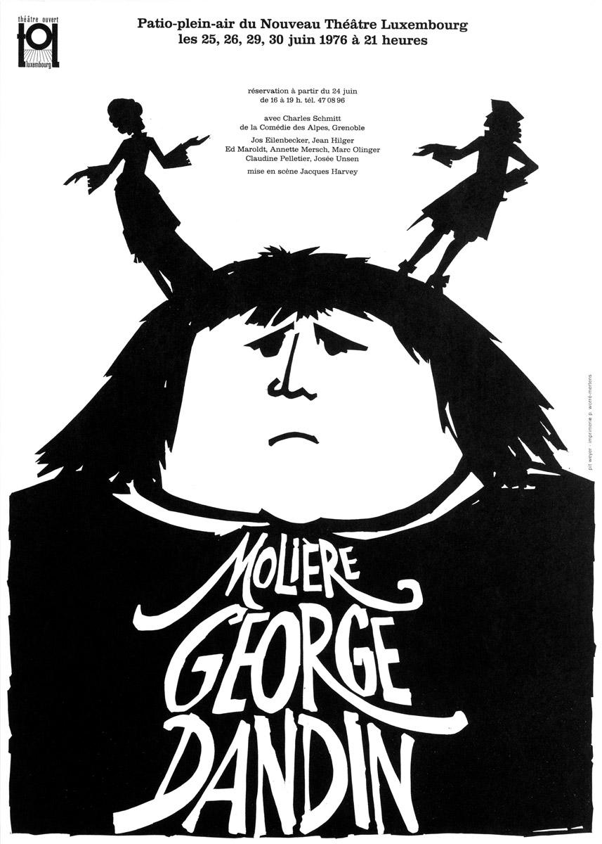 Affiche George Dandin TOL 1976 Pit Weyer