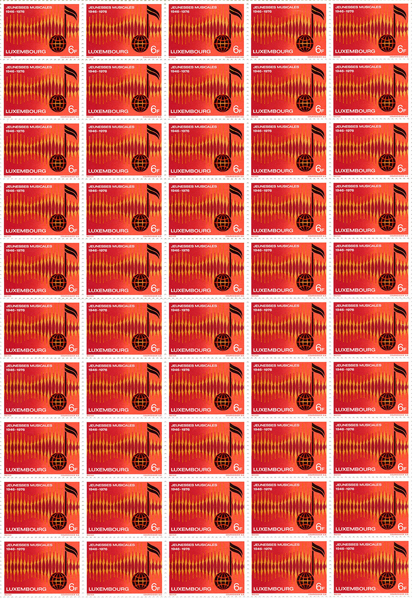 Timbre postal Briefmarken postal stamps 1976 Luxembourg Pit Weyer