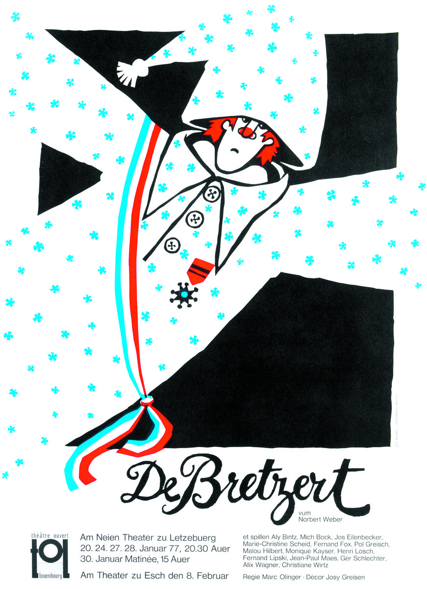 Affiche Plakat De Bretzert vum Nicolas Welter 1977 TOL Pit Weyer
