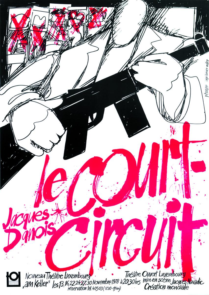 Affiche Le Court-circuit de Jacques Danois TOL 1978 Pit Weyer