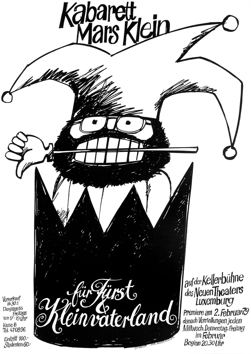 Affiche Plakat Theater-Kabarett Mars Klein 1979 Pit Weyer