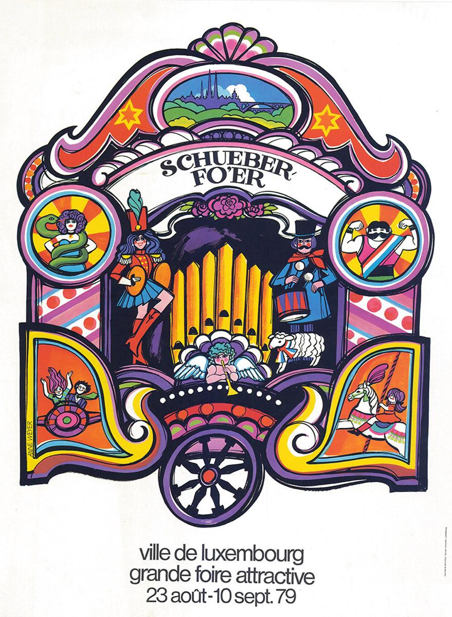 Affiche Plakat 1979 Schueberfouer Anne Weyer