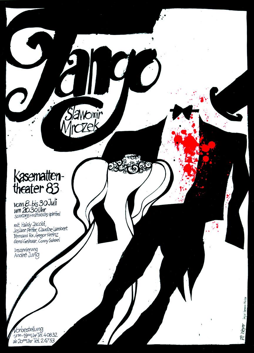 Affiche Plakat 1983 Tango Slawomir MrozekPit Weyer