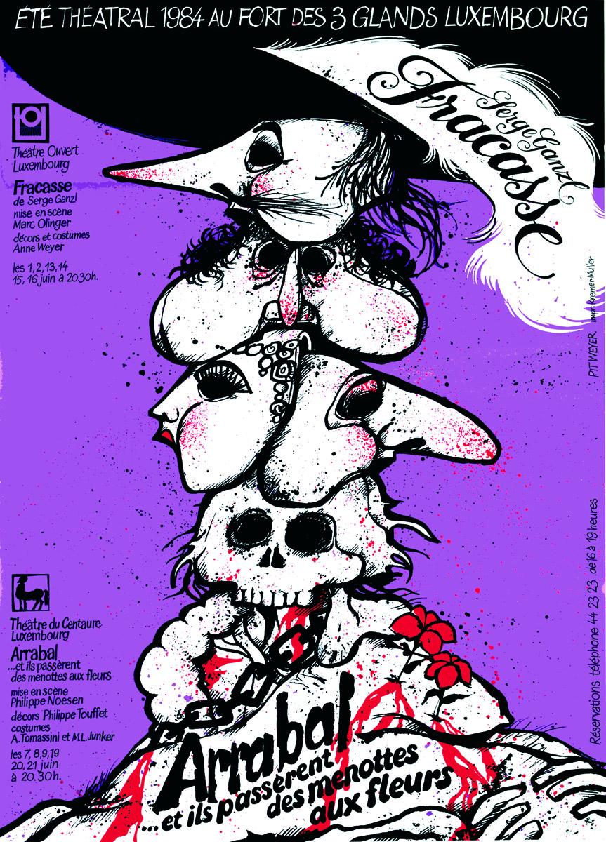 Affiche Plakat 1984 Arrabal Fracasse Eté théâtral
