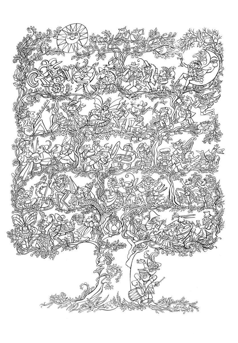Affiche Bonne Année Neujahrsplakat 1985 Lex & Pit Weyer Illustration Anne Weyer