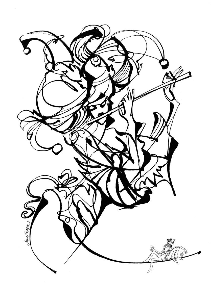 Affiche Bonne Année Neujahrsplakat 1986 Lex & Pit Weyer Illustration Anne Weyer