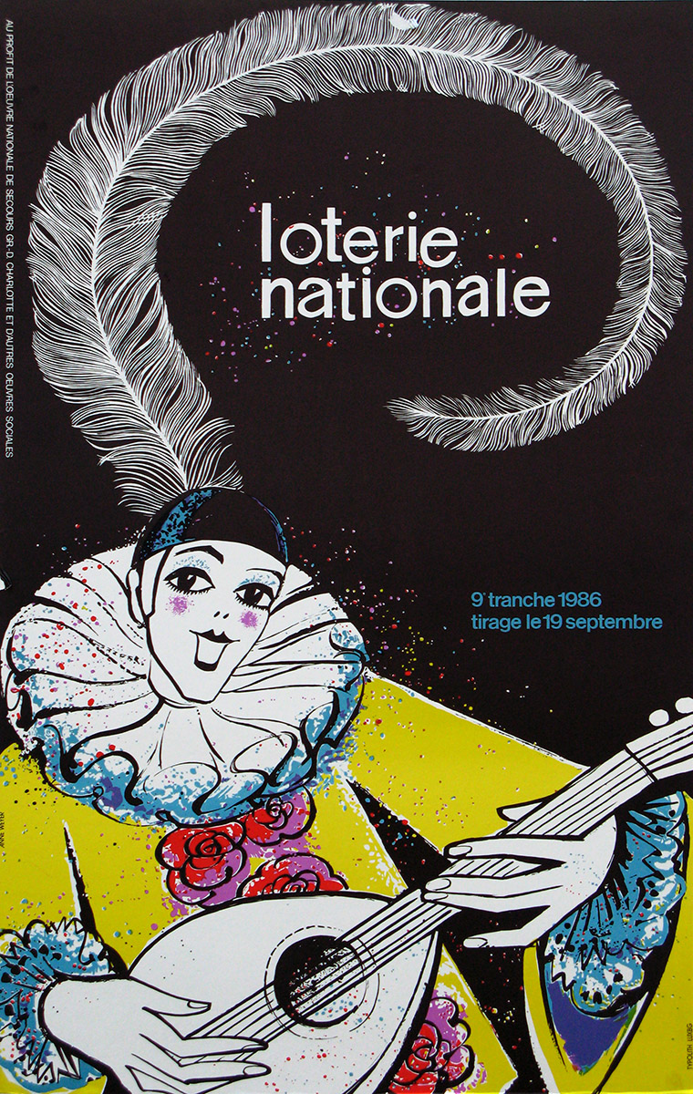 Affiche Plakat Loterie Nationale 1986 Anne Weyer