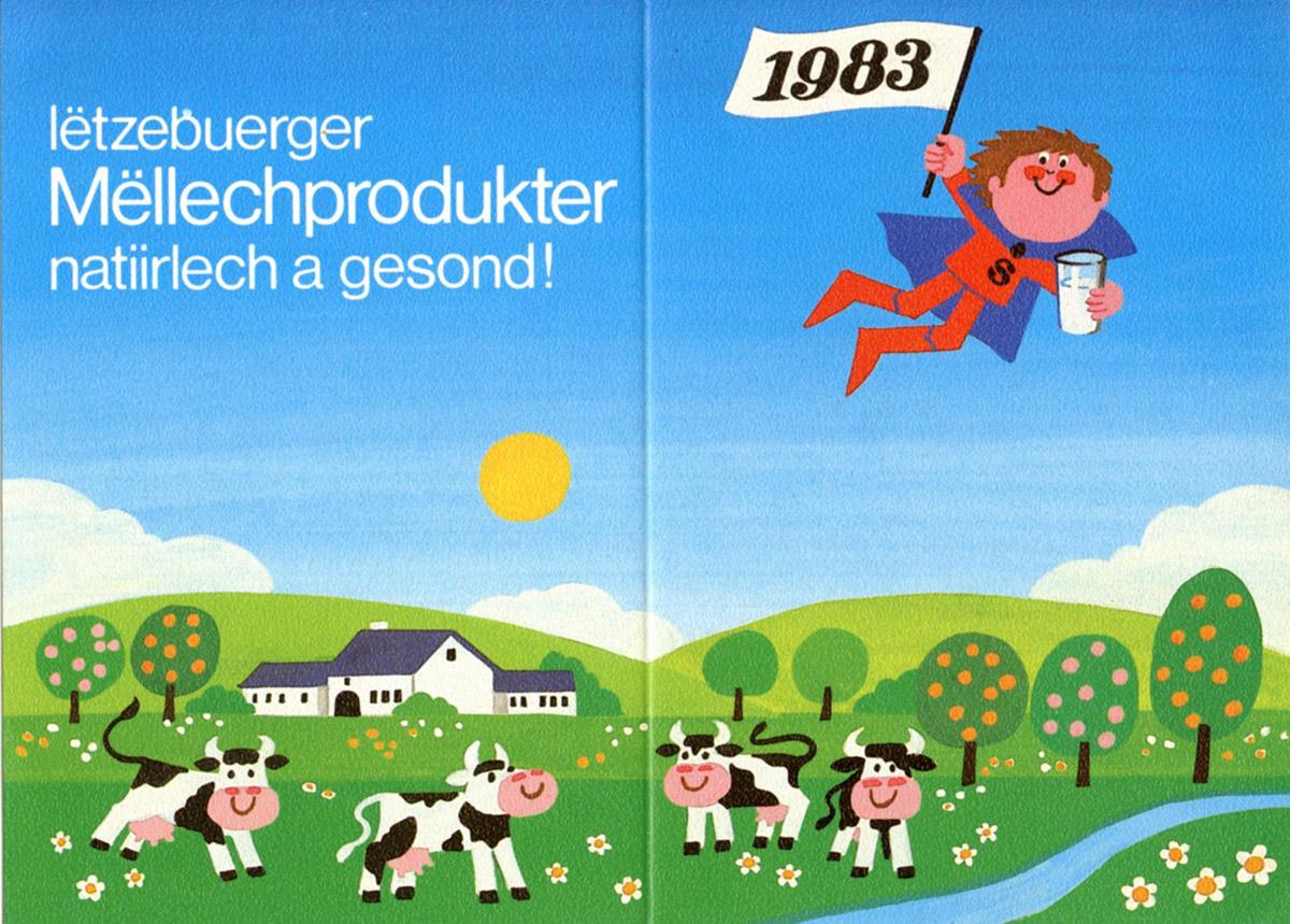 Calendrier LUXLAIT 1983 Pit Weyer