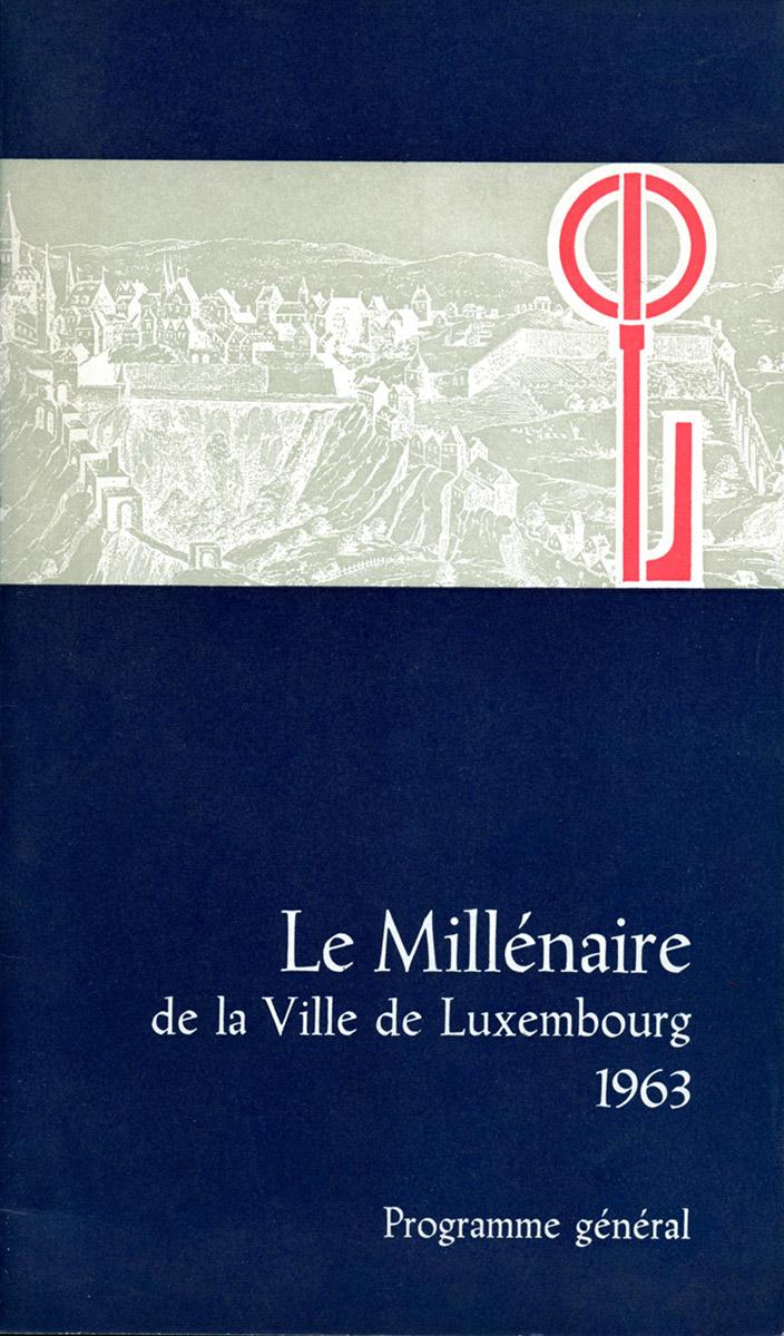 Brochure Millénaire de la Ville de Luxembourg 1963, Lex Weyer senior