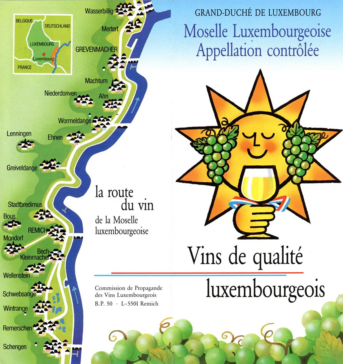Depliant Vinsmoselle 1985 Lex & Pit Weyer