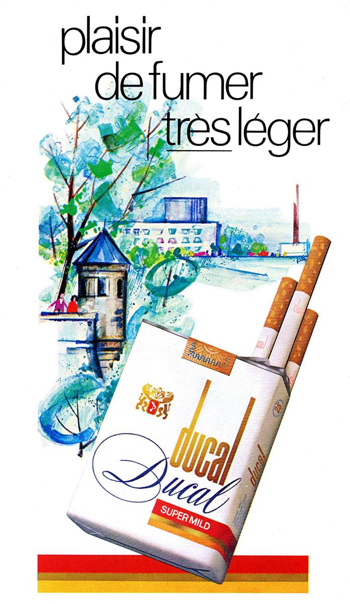 Annonce Cigarettes DUCAL Heintz Van Landewyck 1982 Pit Weyer