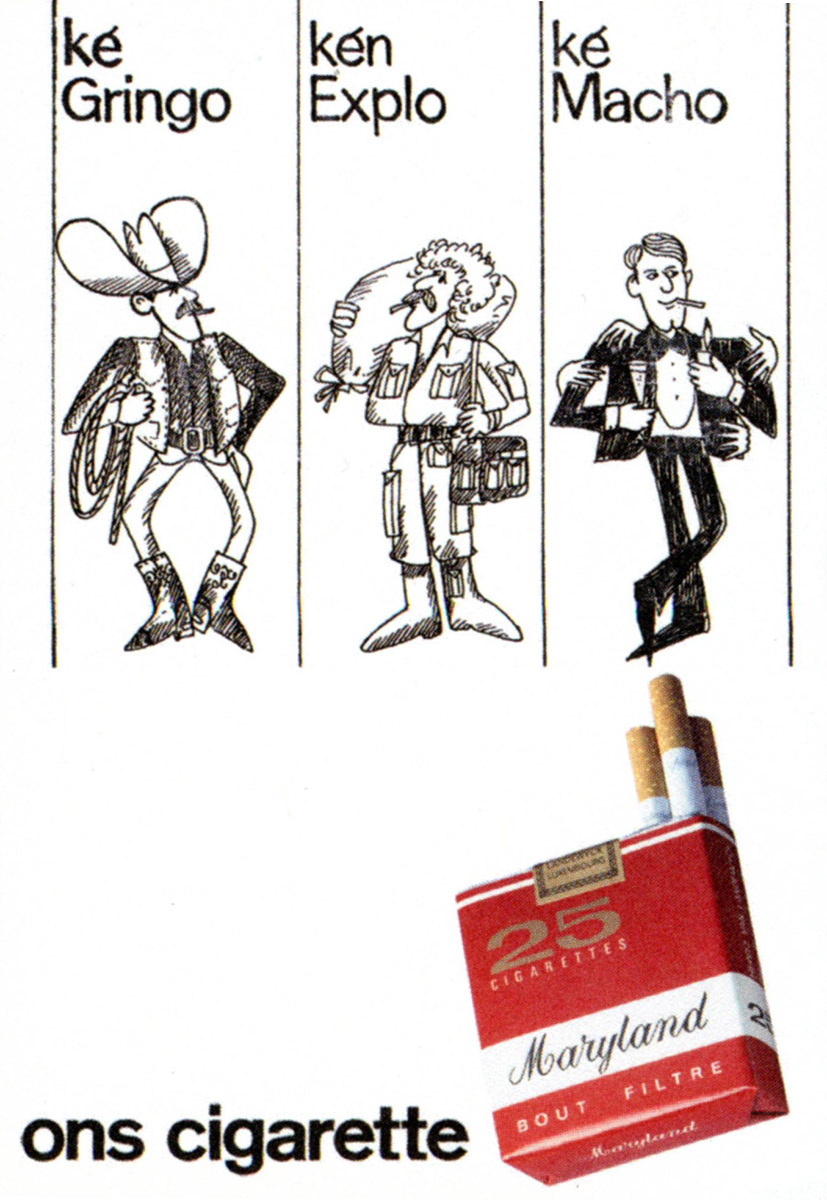 Annonce Maryland ons cigarette HVL 1984 Lex & Pit Weyer