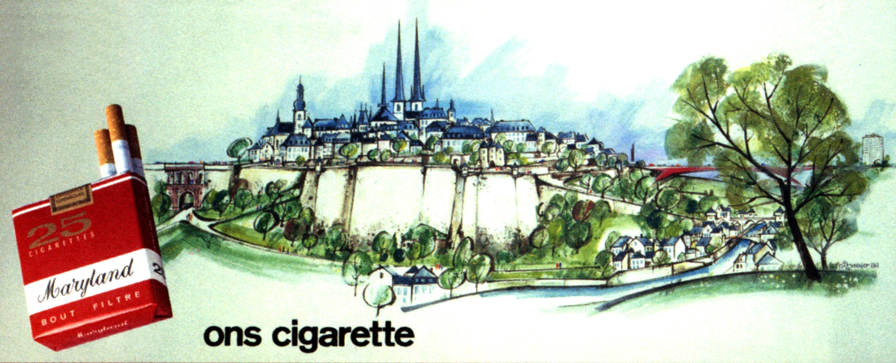 grand panneau pour Heintz van Landewyck - cigarettes Maryland 1983 Pit Weyer