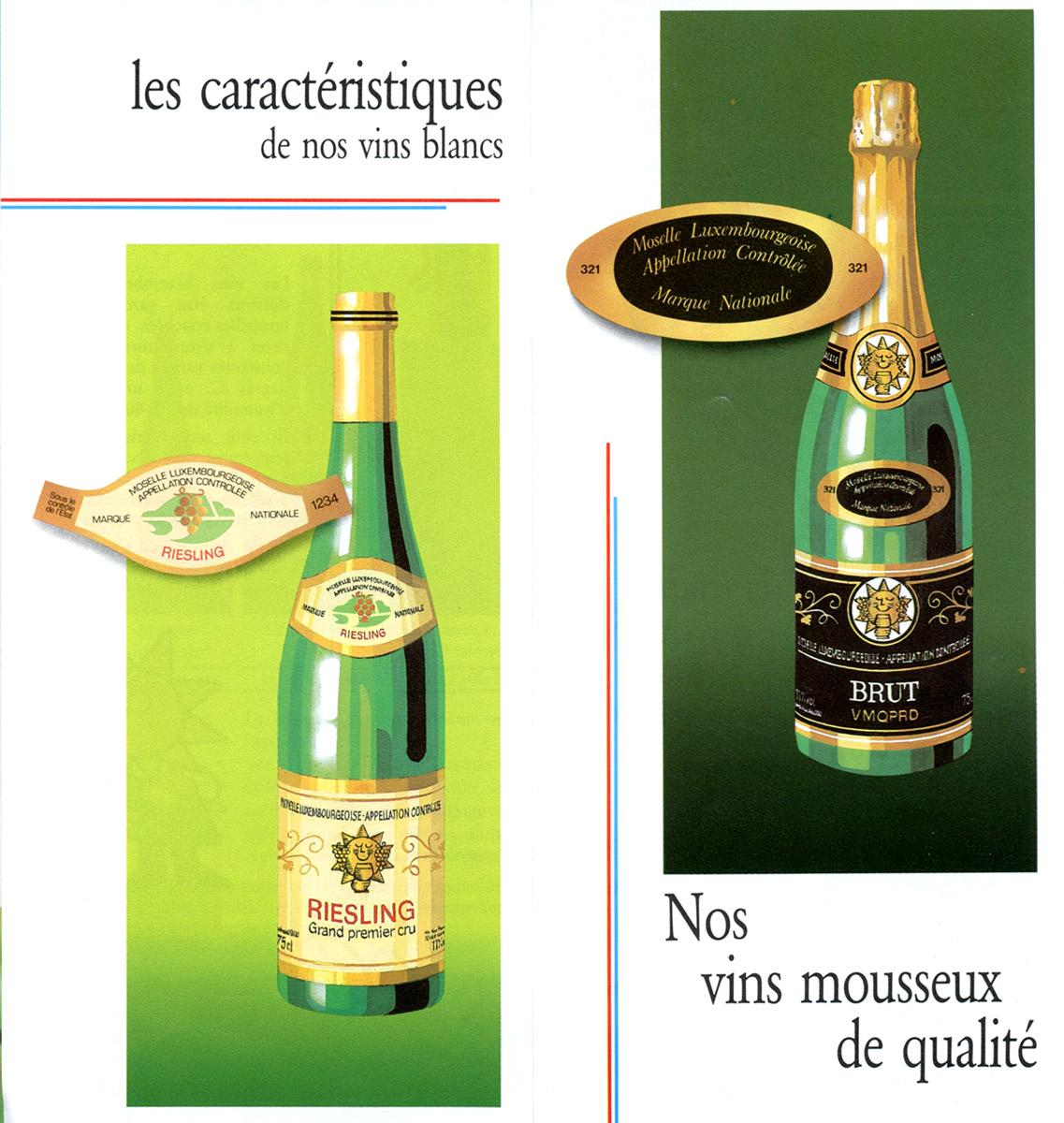 Dépliant Vinsmoselle La route du vin 1985 Lex & Pit Weyer