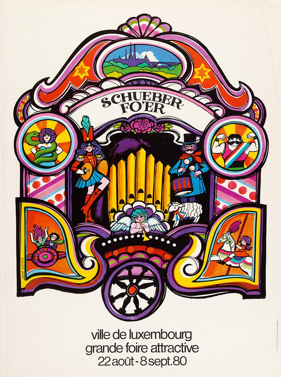 Affiche Schueberfouer Luxembourg 1980 Anne Weyer