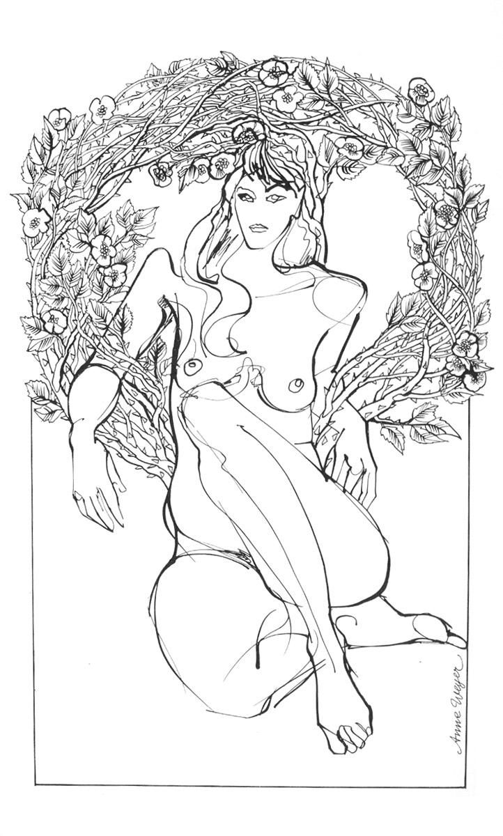 illustration Anne Weyer La muse démuselée 1982