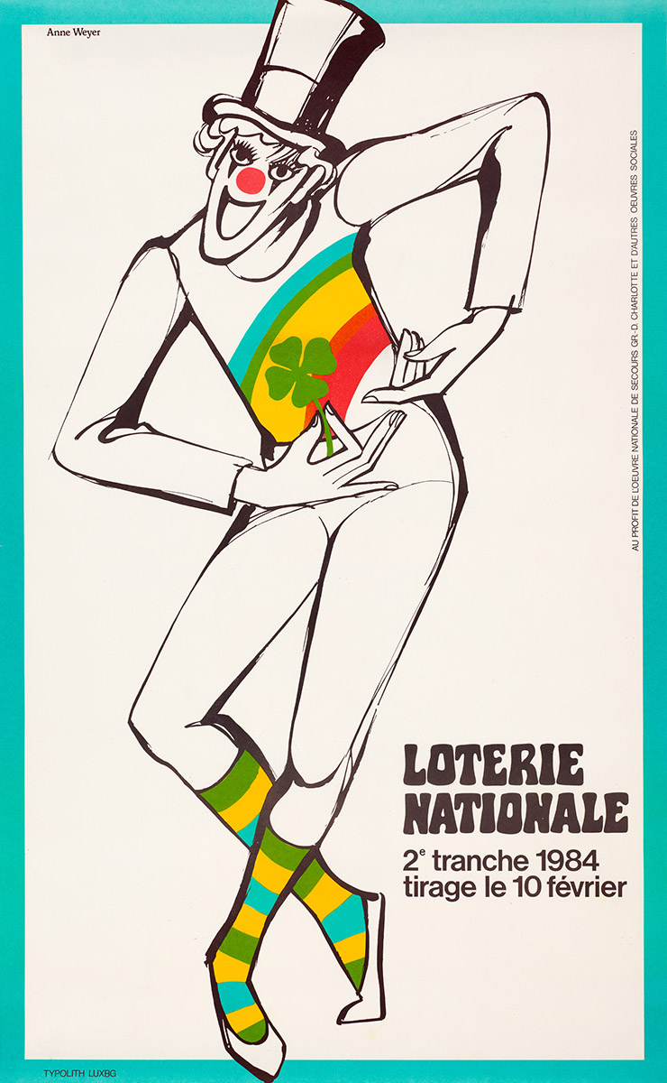 Affiche Loterie Nationale 1984 Anne Weyer