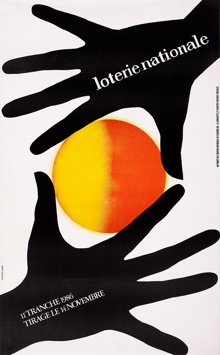 Affiche Loterie Nationale 1986 Anne Weyer