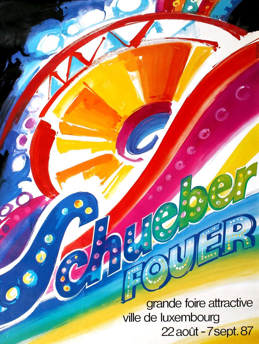 Affiche Schueberfouer 1987 Pit Weyer