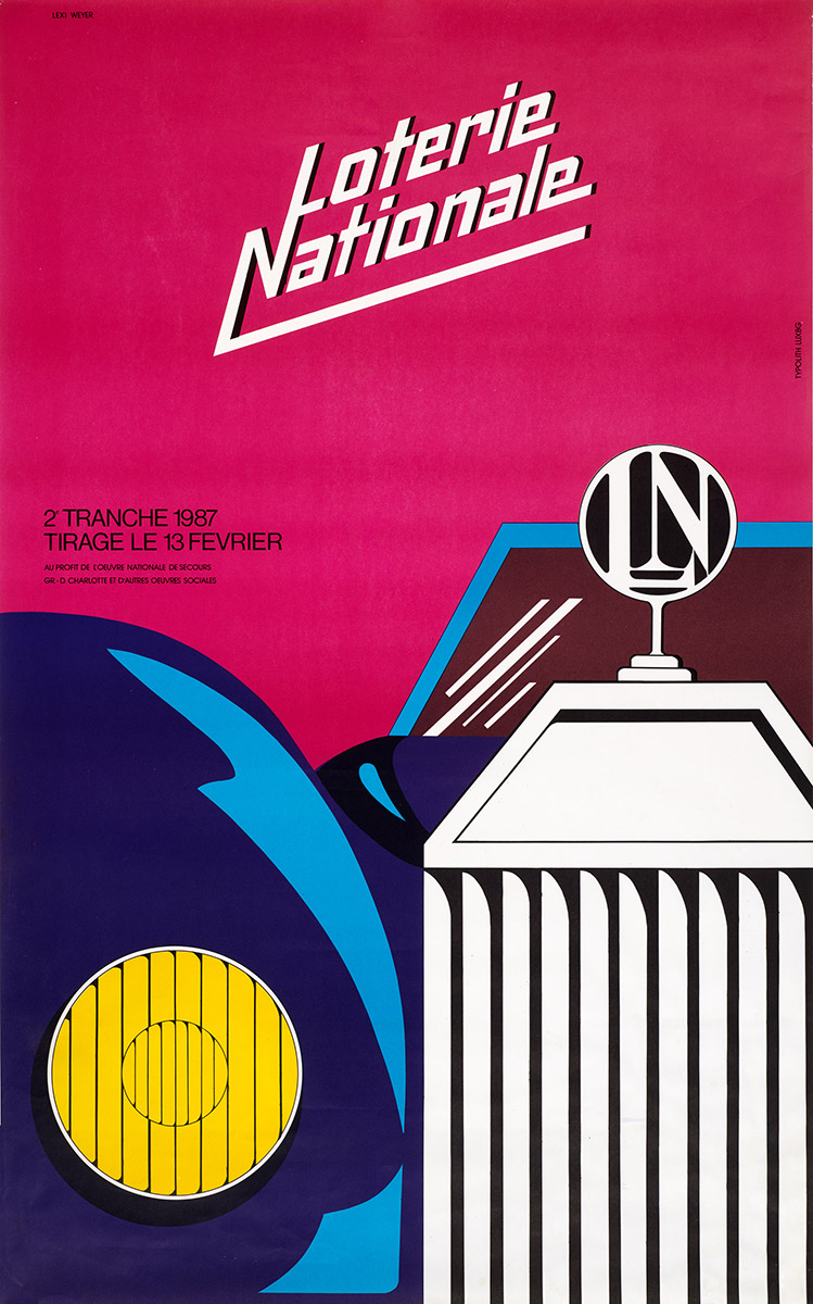 Affiche Loterie Nationale 1987 Lex Weyer junior