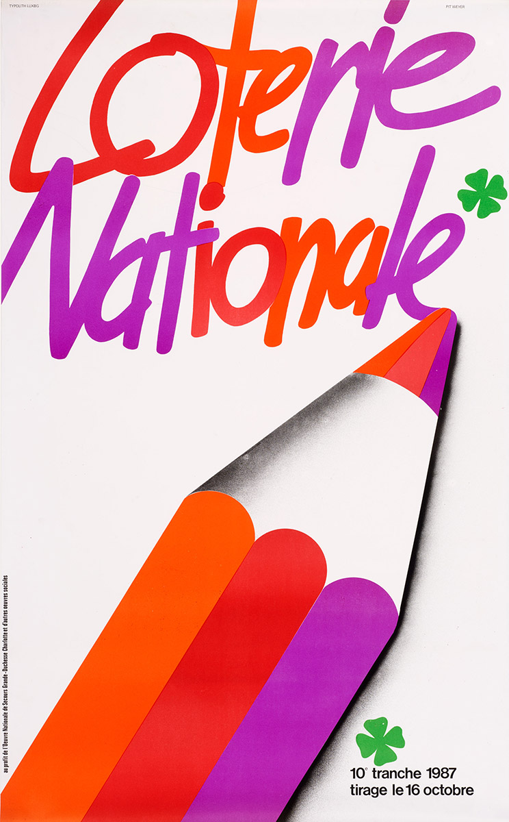 Affiche Loterie Nationale 1987 Pit Weyer