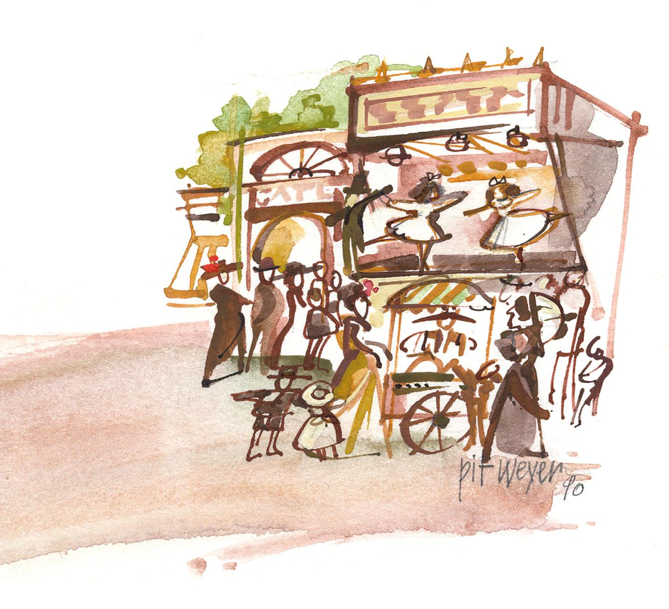 illustration Pit Weyer ancienne Schueberfouer 1990
