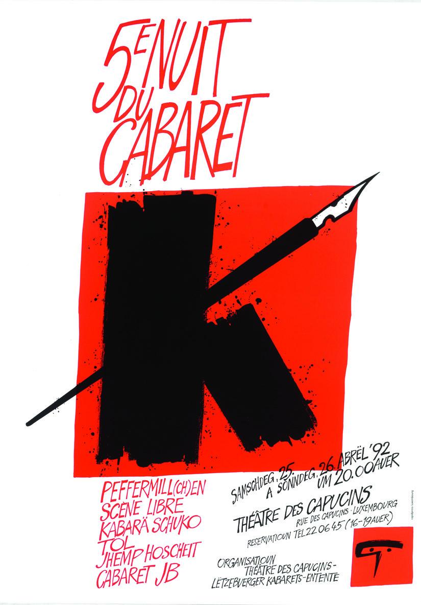 Affiche 1992 5e Nuit du Cabaret