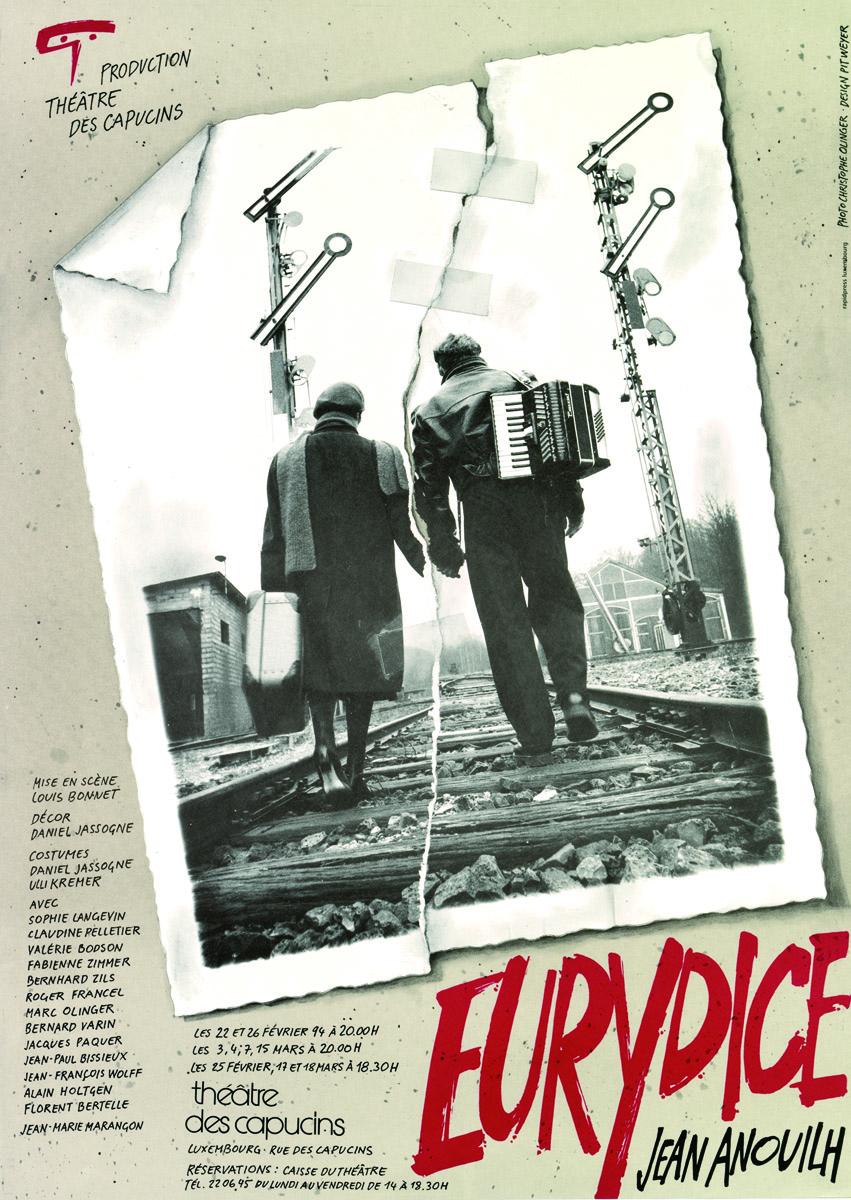 Affiche Eurydice de Jean Anouihlh 1994 Théâtre des Capucins Pit Weyer