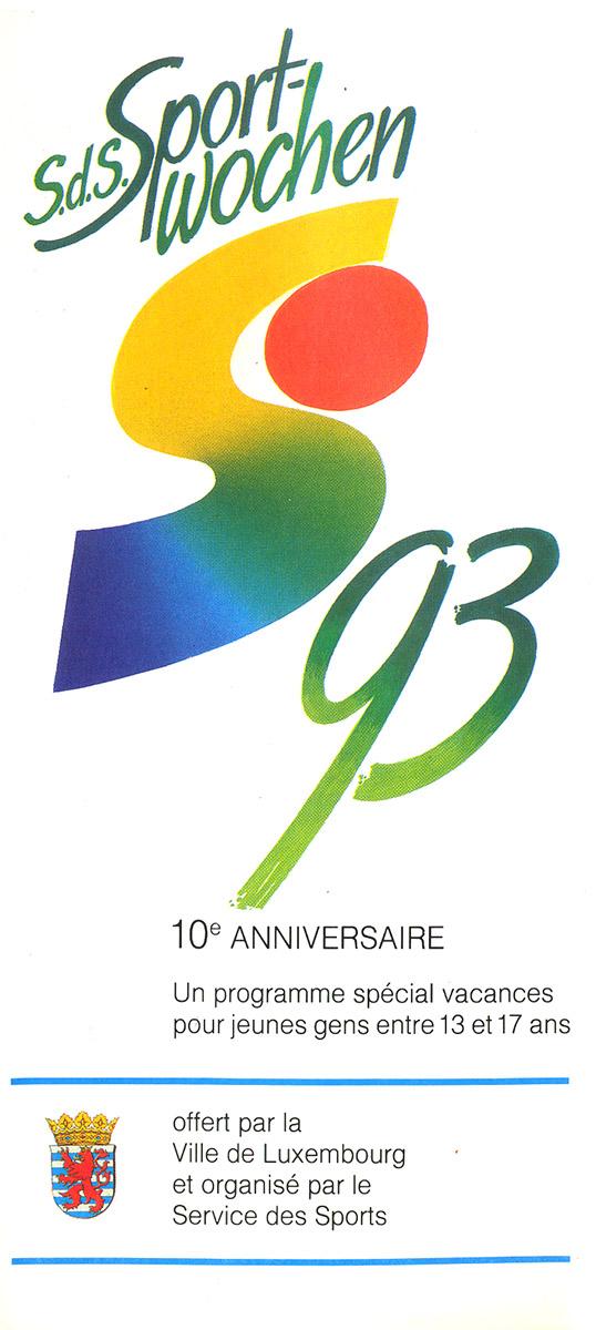 Dépliant Sportwochen 1993