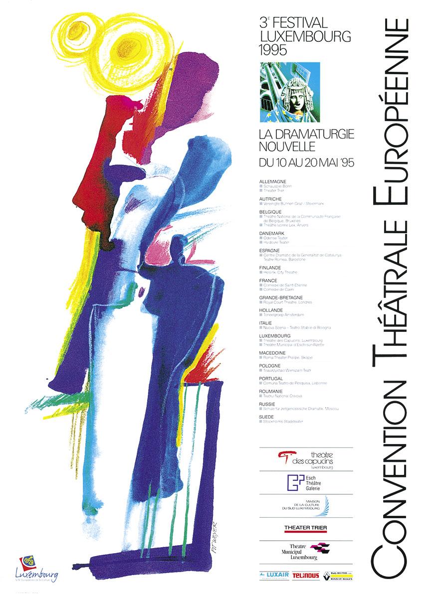 Affiche Pour Convention théâtrale Européenne 1995 Pit Weyer