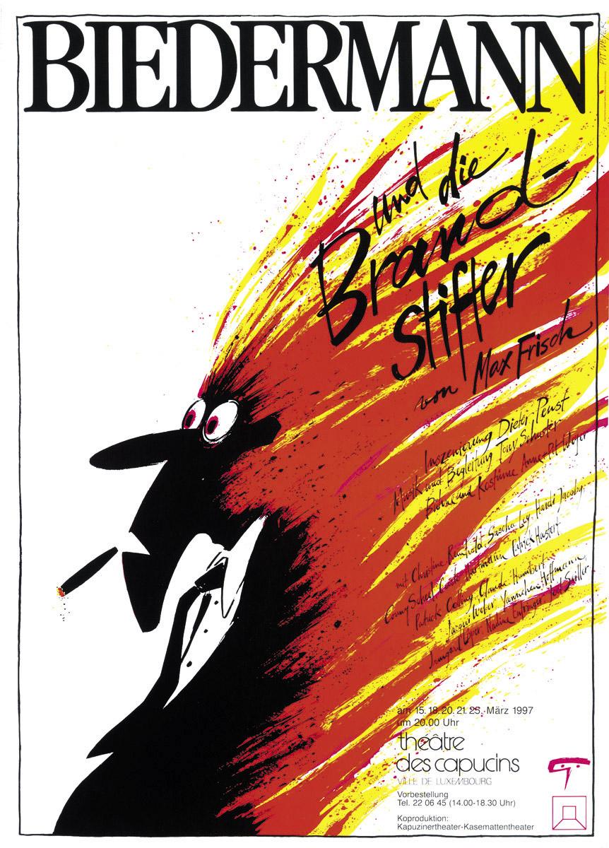 Affiche Biedermann und die Brandstifter von Max Frisch 1997
