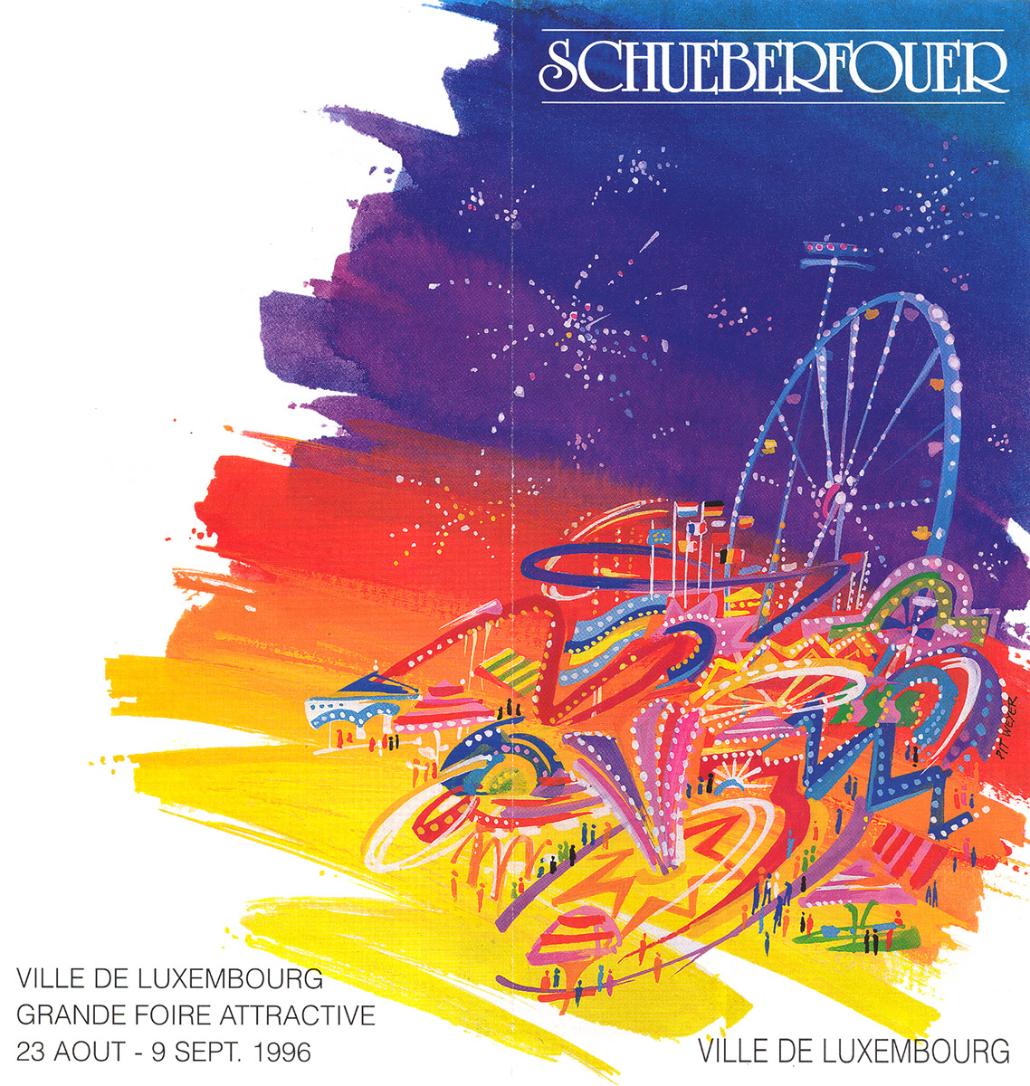 dépliant pour Schueberfouer 1996 Lex & Pit Weyer