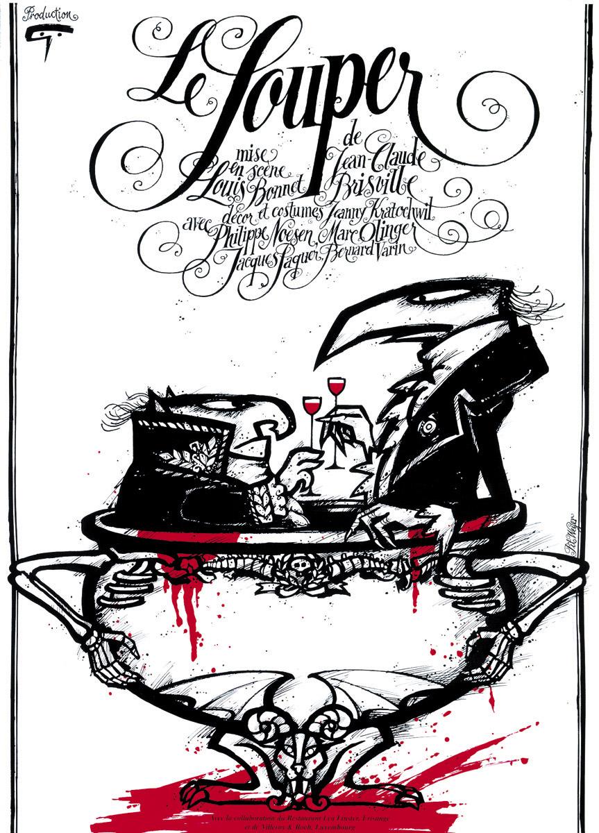 Affiche 1997-98 Le Souper Théâtre des Capucins Pit Weyer