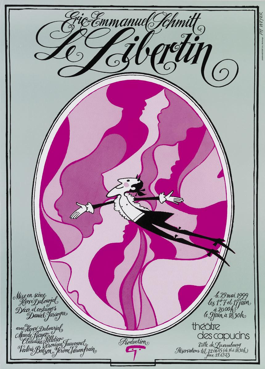 Affiche 1999 Le Libertin Théâtre des Capucins Pit Weyer